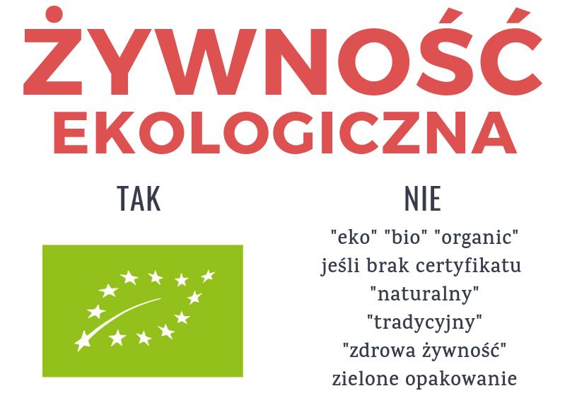 żywność ekologiczna certyfikat